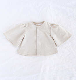 "WANDERER / Sleeve blouse ""PUFFY"" made of linen"