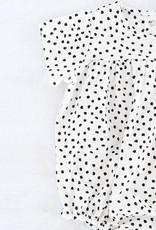"""Grenouillère à manches courtes """"DALMATIAN"""" noir/blanc"""