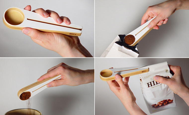 """Kapu"" measuring spoon for coffee made of birch plywood"