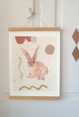 """Poster """"Kleiner freundlicher Hase"""""""