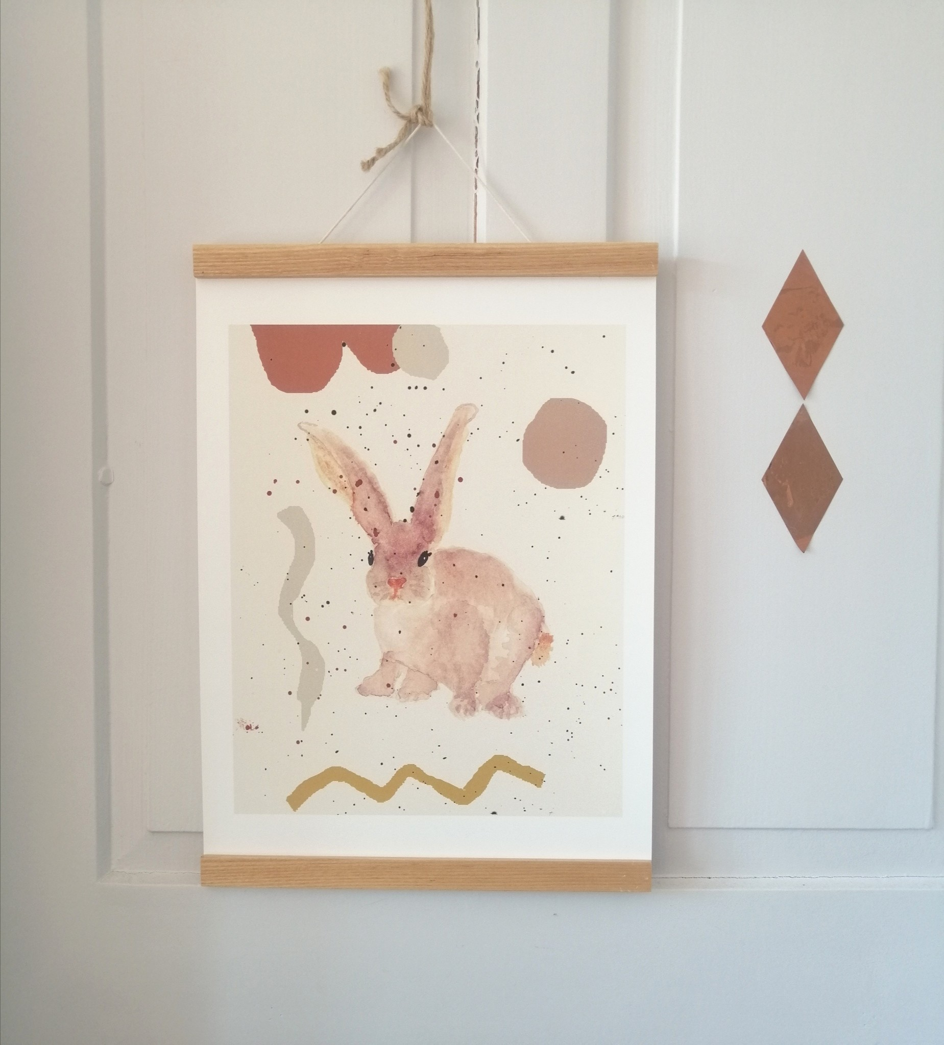 "Poster ""Little friendly rabbit"""