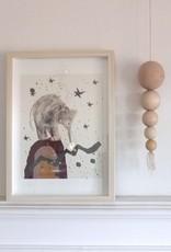 """Poster """"Kleiner Elefant im Traumland"""""""