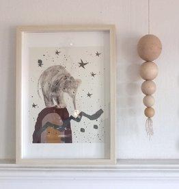 """MONTSCHITCHI/ Affiche """"Petit éléphant au pays des rêves"""""""
