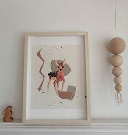 """MONTSCHITCHI/ Affiche """"Little Shy Bambi"""""""