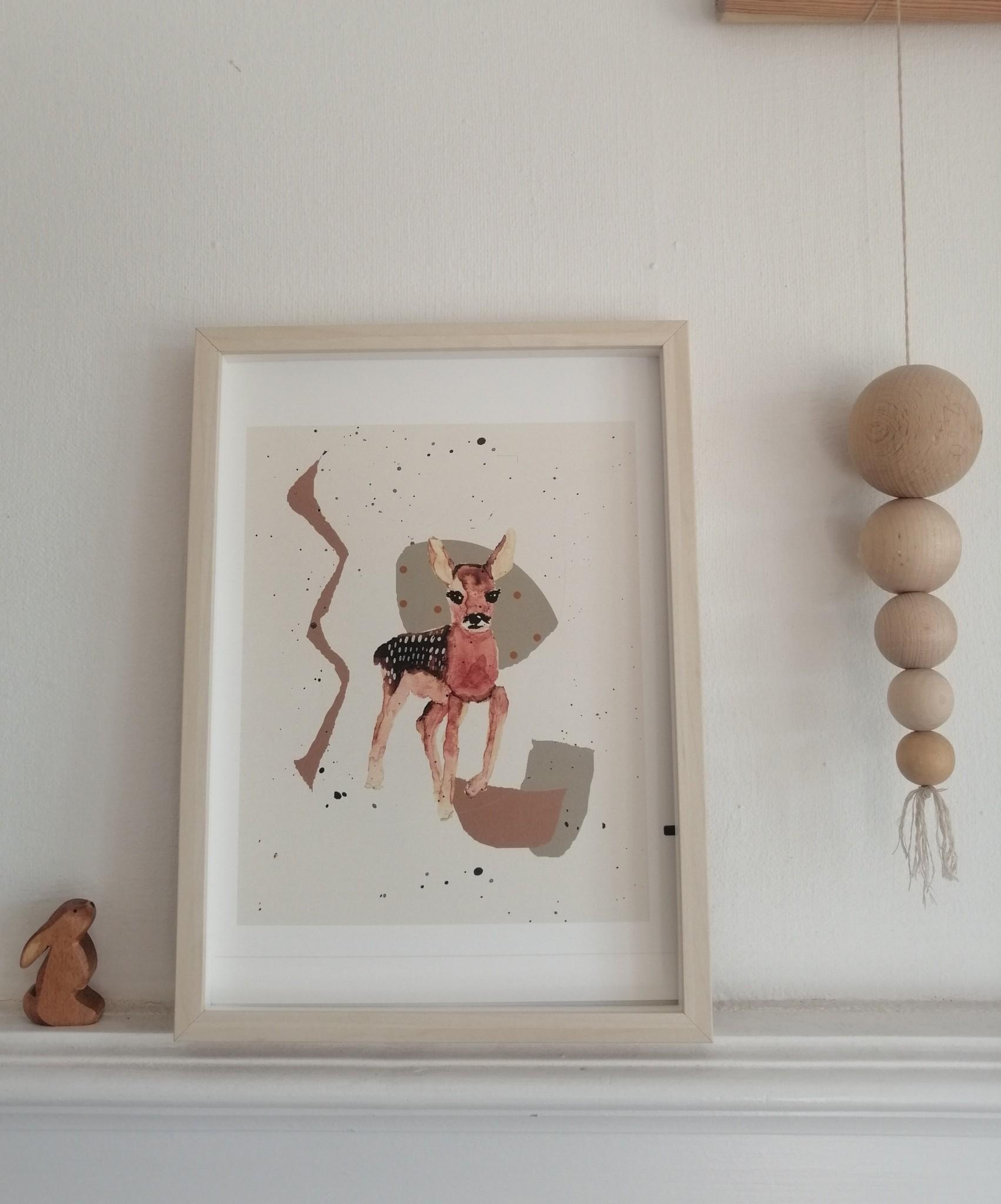 """Poster """"Kleines scheues Bambi"""""""