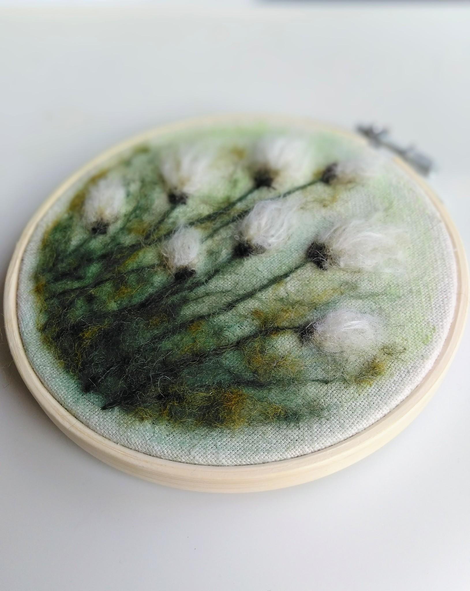 """Stickerei Kunstwerk """"Woolen Flowers"""""""