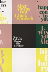 "Postcard set of 10 ""Geburtstag"""