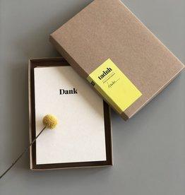 """TADAH / Jeu de 10 cartes postales """"Danke"""""""