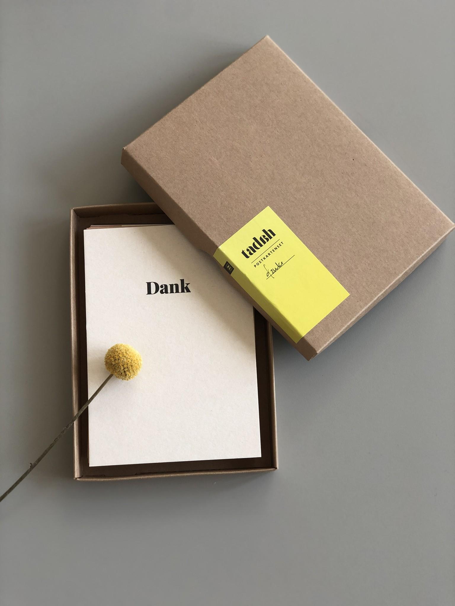 """Postkarten 10er Set """"Danke"""""""