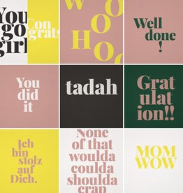 "TADAH / Jeu de 12 cartes postales ""Gratulation"""