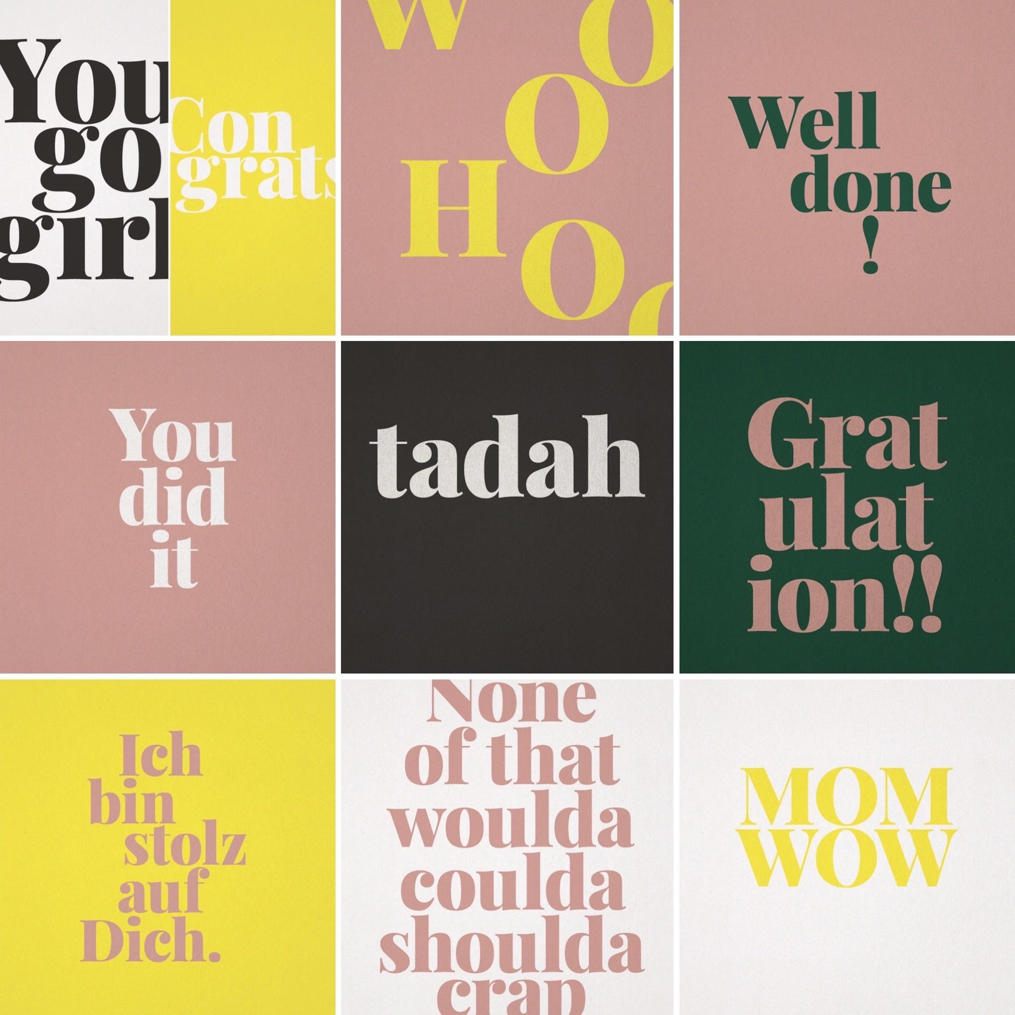 "Postcard set of 10 ""Gratulation"""