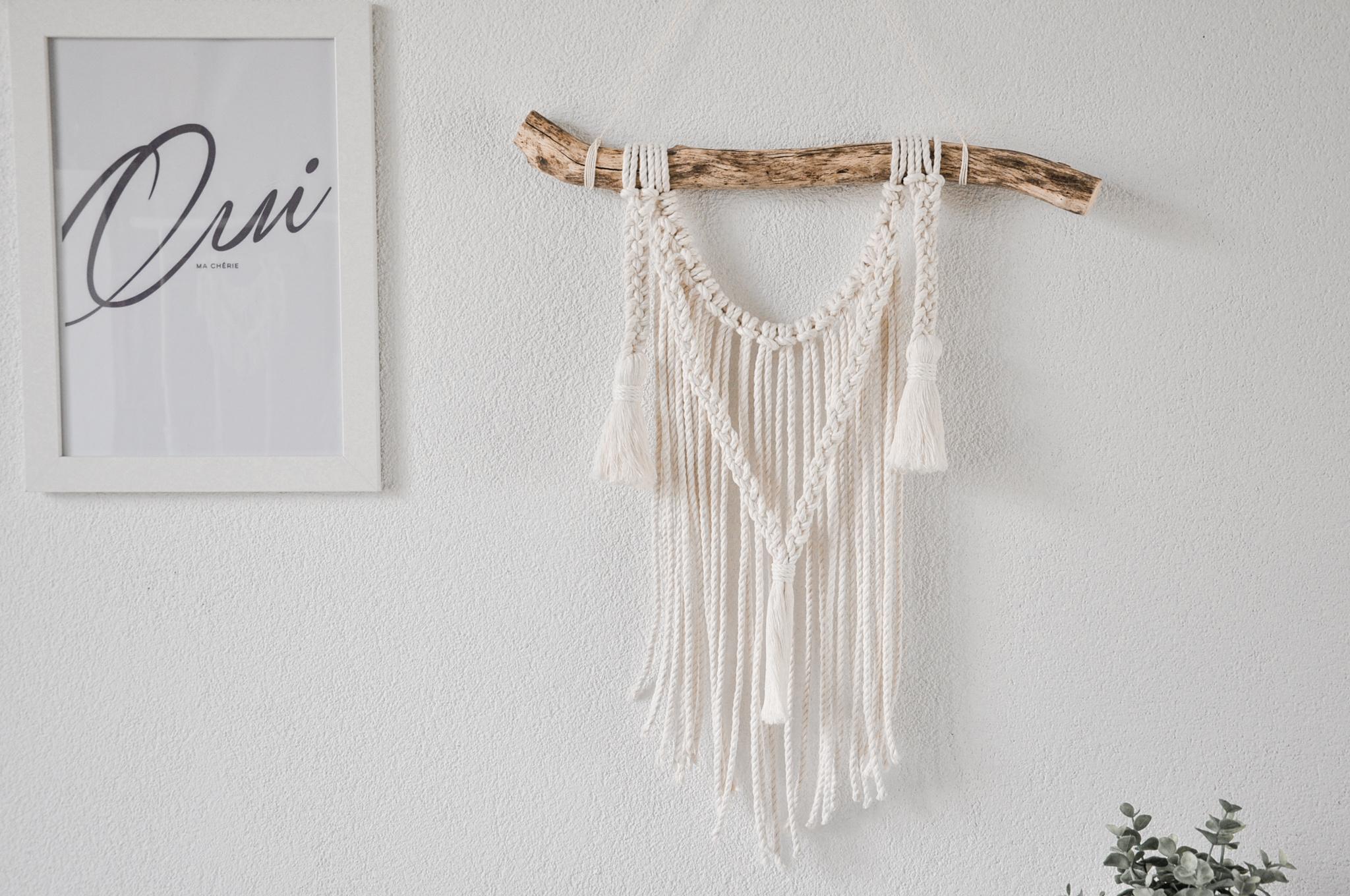 """Macramé wall hanging """"Seda"""" natural colour"""