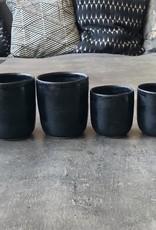 "Set de tasses ""Salmiakki"" noir satiné"
