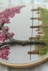 """Stickerei Kunstwerk """"The Blossom of Cherrytree"""""""