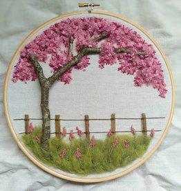 "KAUNOKKI HANDMADE / Embroidery art ""The Blossom of Cherrytree"""