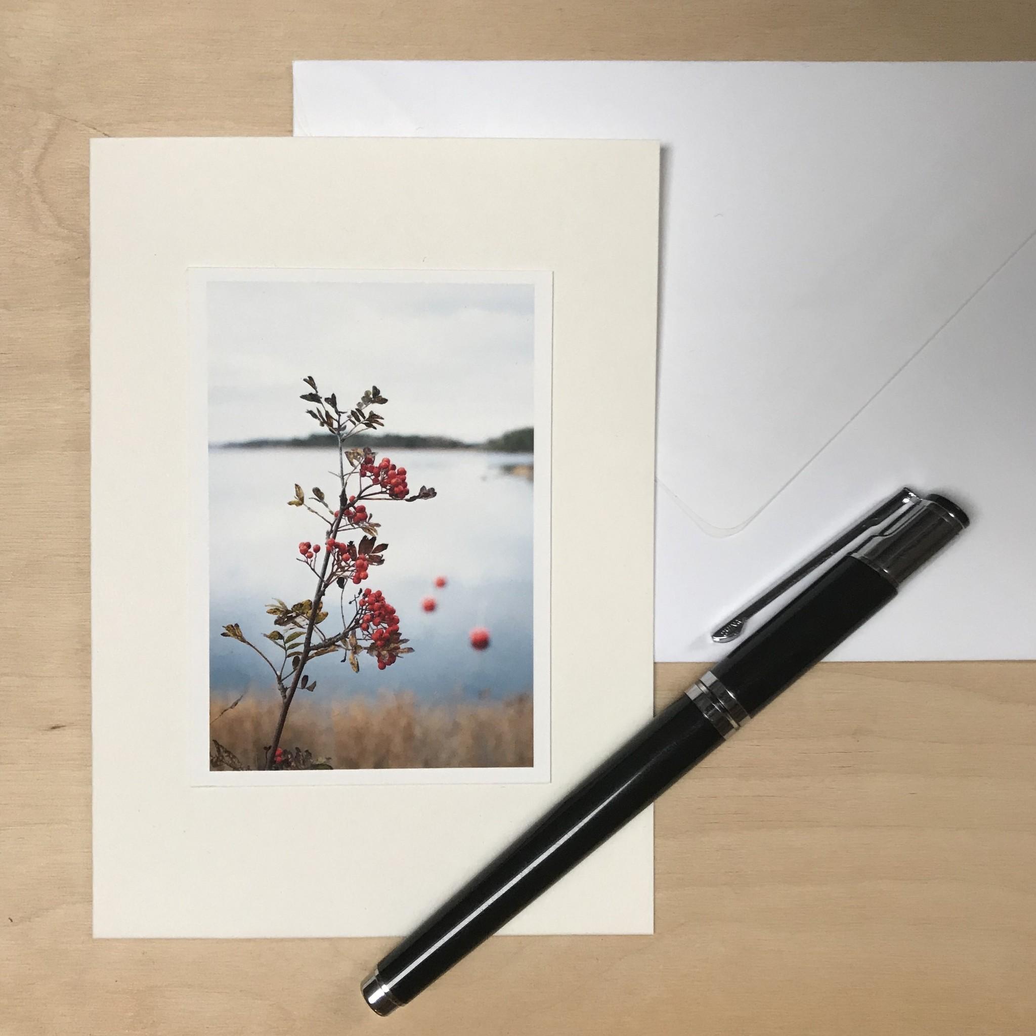 "Cartes de vœux à la main lot de 3 ""En nature"""