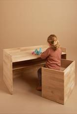 hocker / La table pour enfants en bois de chêne