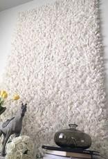 Wollstoff als Decke oder Wanddekoration weiss (110 x 170 cm)