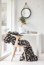 Wollstoff als Decke oder Wanddekoration braun (110 x 170 cm)