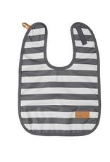 Baby bib grey striped