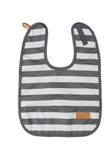 BABY WALLABY - Baby bib grey striped