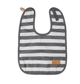 BABY WALLABY / Baby bib grey striped