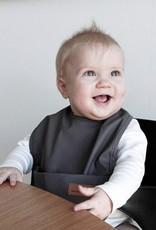Bavoir de bébé en gris foncé