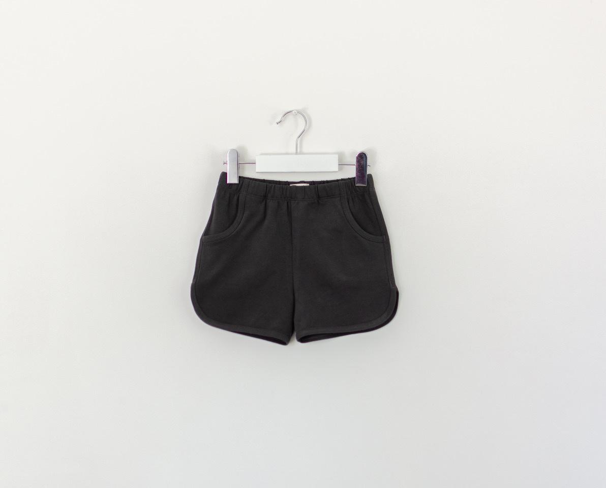 Retro shorts in nearly black