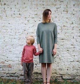 SLEEPY FOX / Kleid in waldgrün für Erwachsene