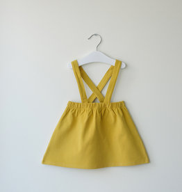 SLEEPY FOX / Dungaree skirt in mustard