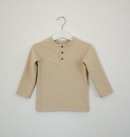 SLEEPY FOX / Unisex langarm T-Shirt beigefarben
