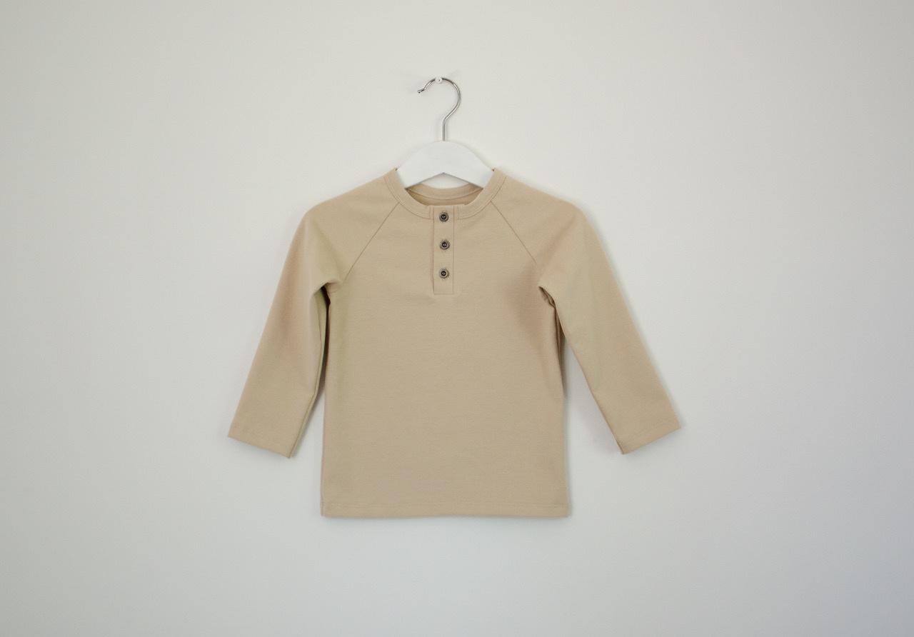 Unisex langarm T-Shirt beigefarben