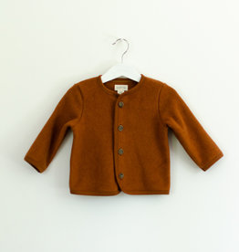 SLEEPY FOX / Baby fleece cardigan with button fastening