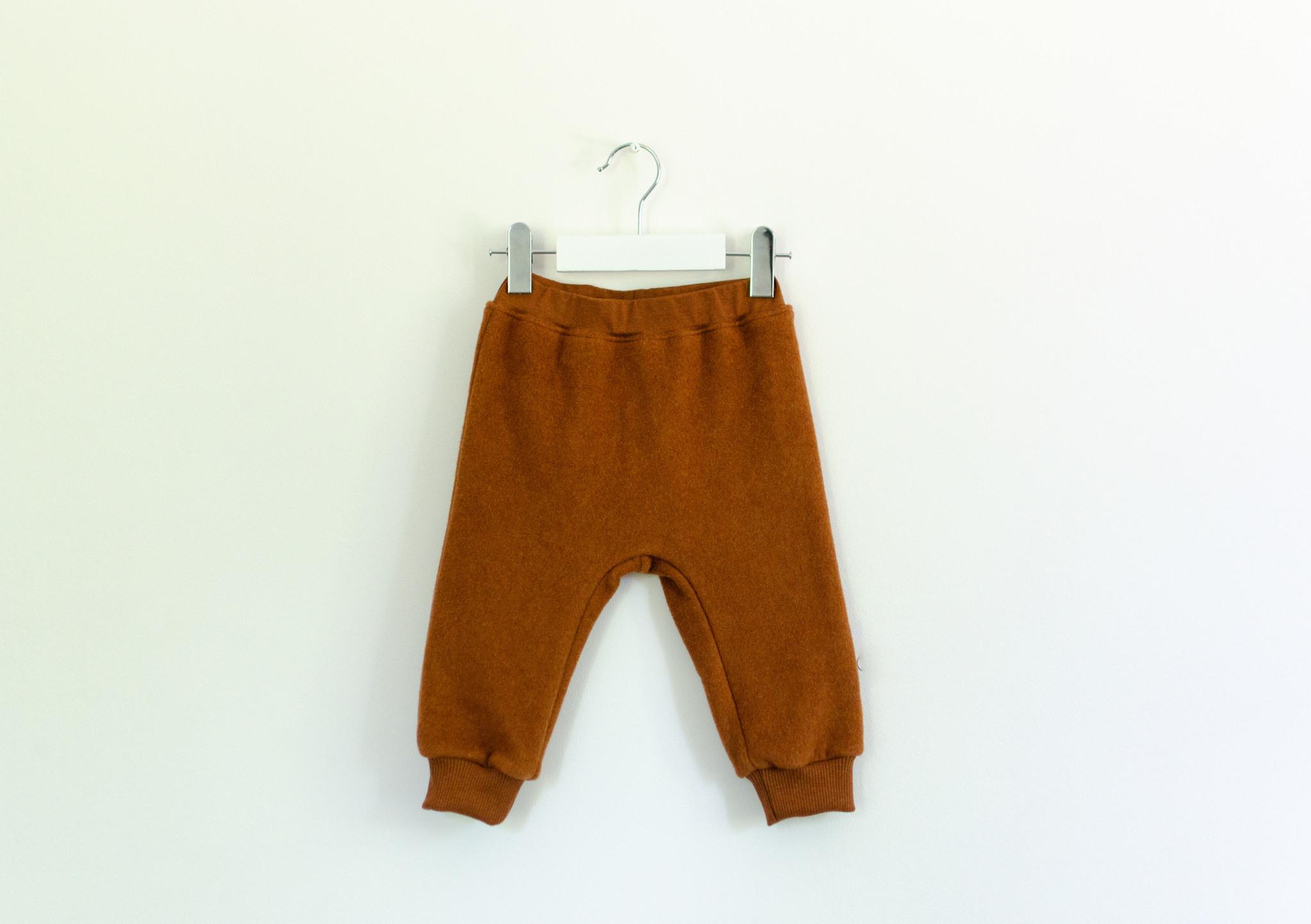Baby fleece pants in Copper Marl