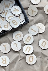 Magnetic letters made of birch plywood