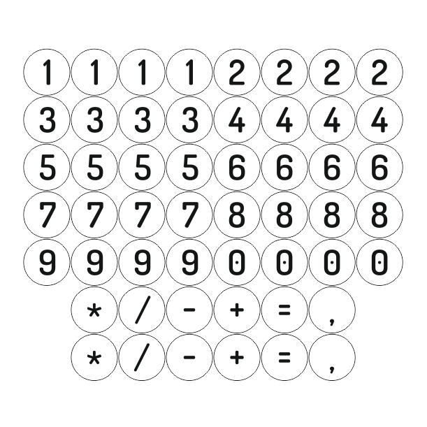 Numéros magnétiques en bois de bouleau