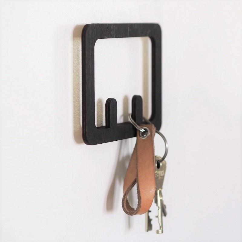 Schlüsselregal aus Birkenholz für 2, 4 oder 6 Schlüssel