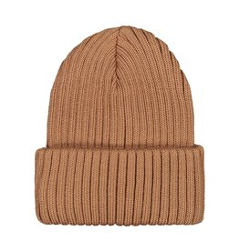 MAINIO CLOTHING / Merino Beanie camel colour for big and little ones