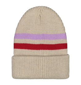 MAINIO CLOTHING / Merino Beanie oat colour for big and little ones