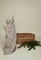 "Baby hooded hemp towel ""Sleepy forest"" 80x80 cm"