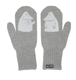 "MOIKO / Merino mittens ""Mörkö"" metal/white FOR BIG AND SMALL"