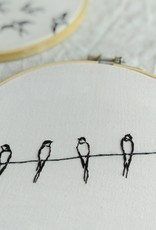 "Embroidery art ""Waiting Together"""