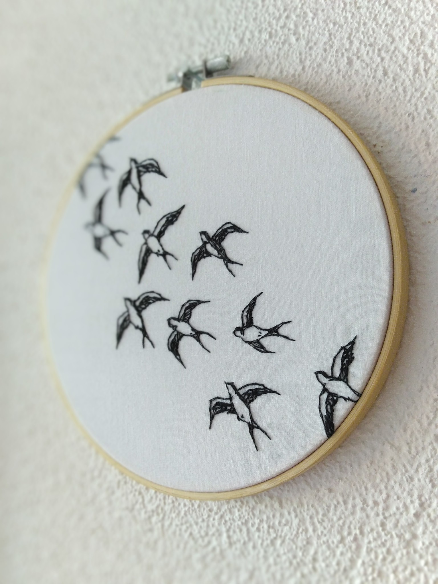 """Embroidery art """"This Way"""""""