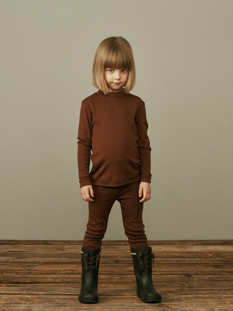 Merino leggings cinnamon coloured