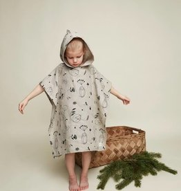 "HEMPEA / Kids bath poncho ""Sleepy forest"" 70x65 cm"
