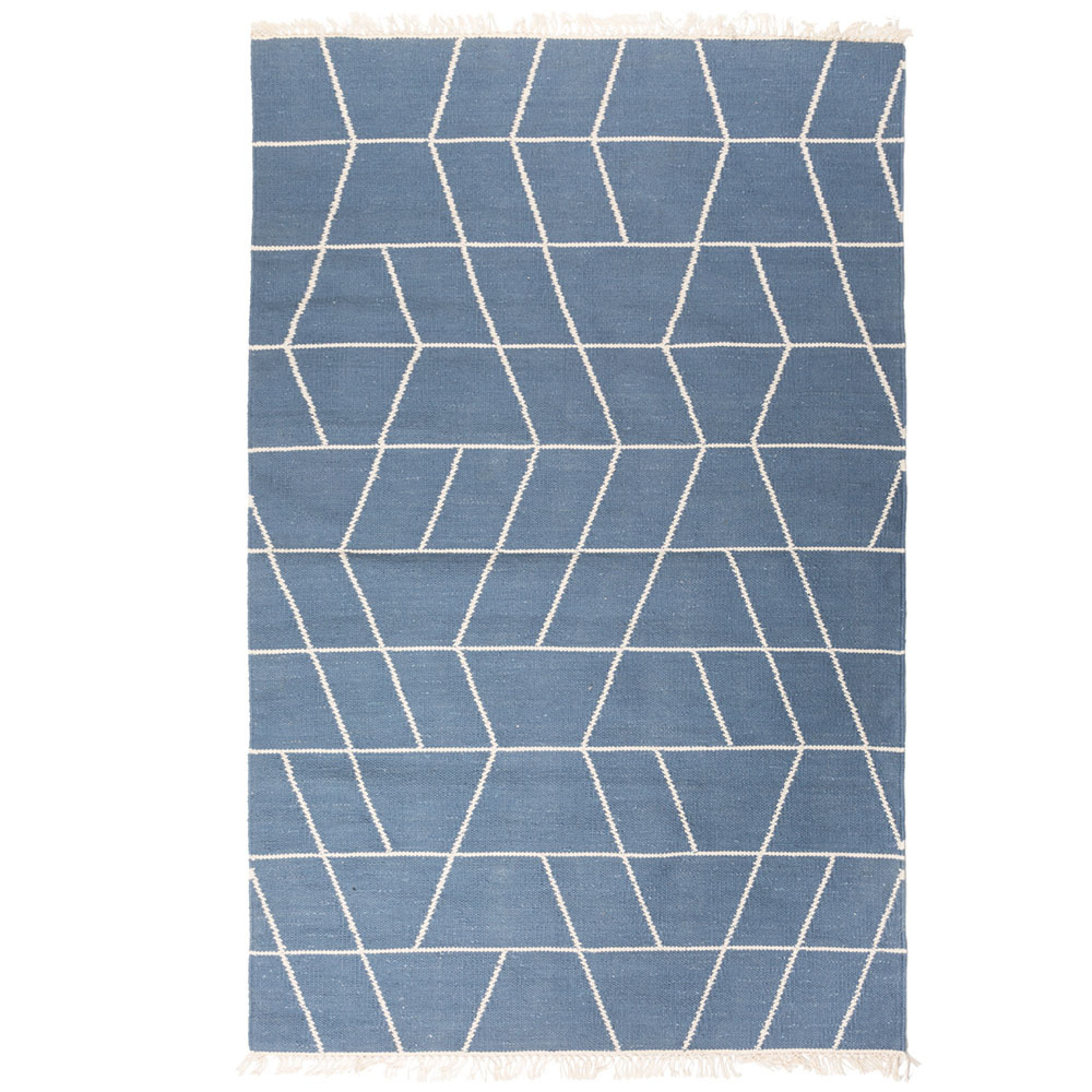 """Teppich """"Touko"""" aus recycelter Baumwolle 90x200x0.7 cm"""
