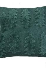 """Wool pillow case """"Forest"""" green 45x45 cm"""
