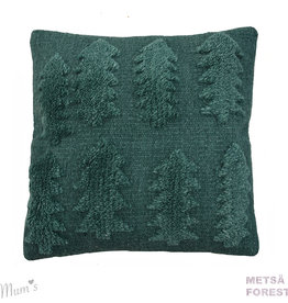 "MUM'S / Wool pillow case ""Forest"" green 45x45 cm"