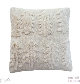"MUM'S / Wool pillow case ""Forest"" natural 45x45 cm"