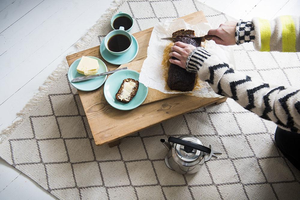 """Teppich """"Sade"""" aus recycelter Baumwolle 90x200x0.7 cm"""